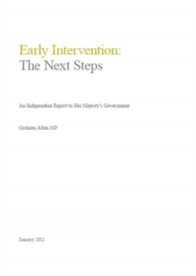 Image for Early intervention  : the next steps