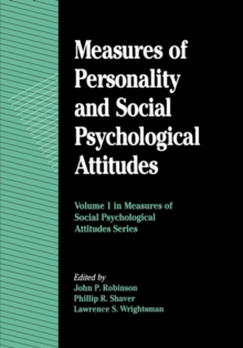Image for Measures of Personality and Social Psychological Attitudes
