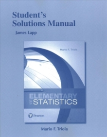 Image for Student's Solutions Manual for Elementary Statistics
