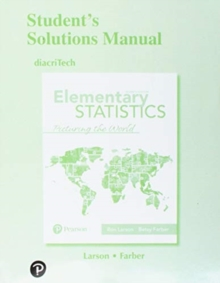 Image for Elementary statistics, picturing the world, seventh edition: Student solution's manual