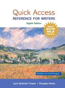 Image for Quick Access : Reference for Writers, MLA Update