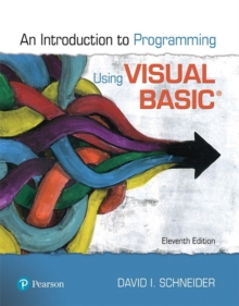 Image for An introduction to programming using Visual Basic