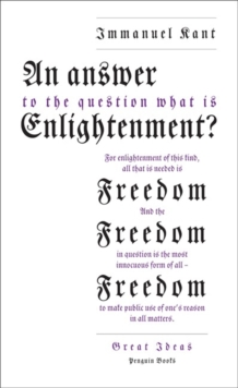 Image for An answer to the question, what is enlightenment?