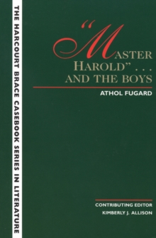 Image for The Wadsworth Casebook Series for Reading, Research and Writing : Master Harold