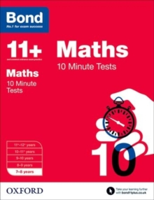 Image for Maths7-8 years,: 10 minute tests