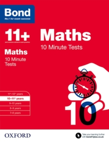 Image for Maths10-11 years,: 10 minute tests