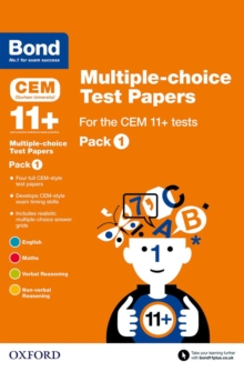 Image for Bond 11+Pack 1: Multiple-choice test papers for the CEM 11+ tests