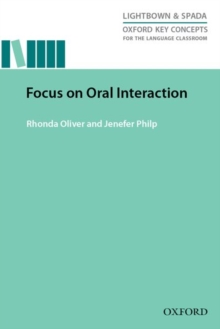 Image for Focus on oral interaction