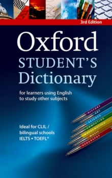 Image for Oxford student's dictionary  : for learners using English to study other subjects