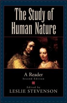 Image for The study of human nature  : a reader