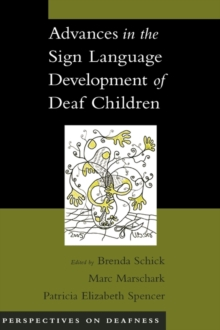 Image for Advances in the sign language development of deaf children