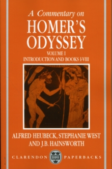 Image for A commentary on Homer's OdysseyVolume I,: Introduction and Books I-VIII