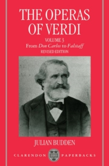 Image for The Operas of Verdi: Volume 3: From Don Carlos to Falstaff