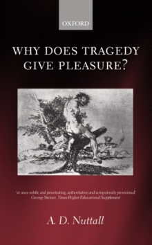 Image for Why does tragedy give pleasure?