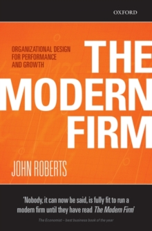 Image for The modern firm  : organizational design for performance and growth