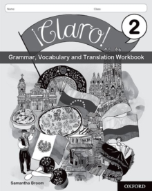 Image for !Claro! 2 Grammar, Vocabulary and Translation Workbook (Pack of 8) : With all you need to know for your 2021 assessments