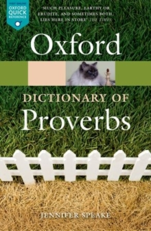 Image for Oxford dictionary of proverbs