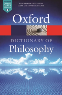 Image for The Oxford dictionary of philosophy