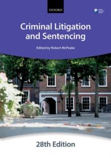 Image for Criminal litigation and sentencing