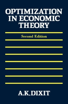 Image for Optimization in Economic Theory