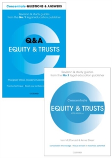 Image for Equity & Trusts Revision Pack 2016 : Law revision and study guide