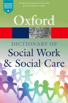 Image for A dictionary of social work and social care