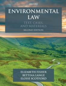 Image for Environmental law  : text, cases, and materials