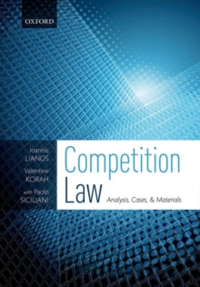 Image for Competition law  : analysis, cases & materials