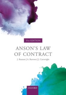 Image for Anson's law of contract
