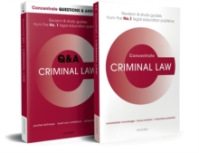 Image for Criminal Law Revision Concentrate Pack : Law Revision and Study Guide