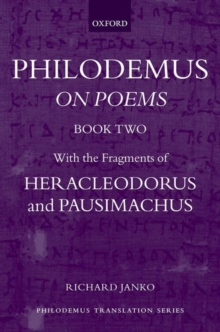 Image for Philodemus: On Poems, Book 2 : With the fragments of Heracleodorus and Pausimachus