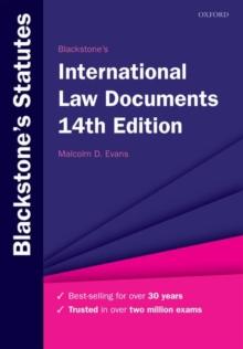Image for Blackstone's international law documents