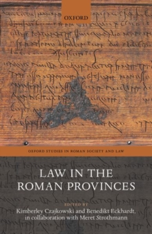 Image for Law in the Roman Provinces