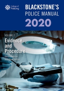 Image for Blackstone's police manualVolume 2,: Evidence and procedure 2020