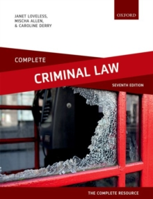 Image for Complete criminal law  : text, cases, and materials