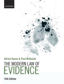 Image for The modern law of evidence
