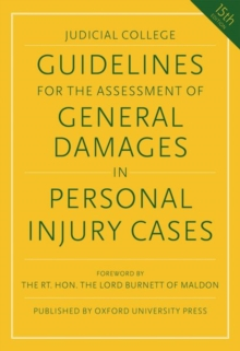 Image for Guidelines for the assessment of general damages in personal injury cases
