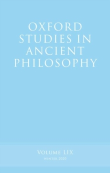 Image for Oxford studies in ancient philosophyVolume 59