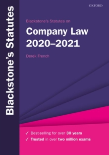 Image for Blackstone's statutes on company law