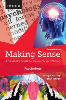 Image for Making sense in psychology  : a student's guide to research and writing