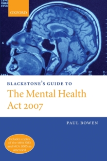 Image for Blackstone's guide to the Mental Health Act 2007