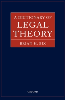 Image for A dictionary of legal theory