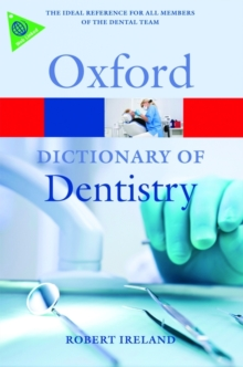 Image for A dictionary of dentistry