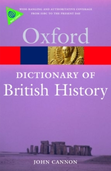 Image for A dictionary of British history