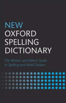 Image for New Oxford spelling dictionary