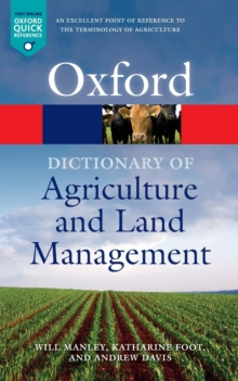 Image for Dictionary of agriculture and land management