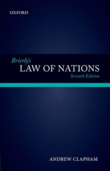 Image for Brierly's law of nations  : an introduction to the role of international law in international relations