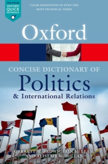 Image for The concise Oxford dictionary of politics and international relations