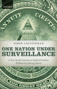 Image for One nation under surveillance  : a new social contract to defend freedom without sacrificing liberty