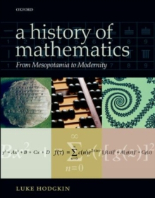 Image for A history of mathematics  : from Mesopotamia to modernity
